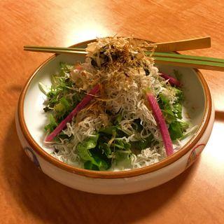 釜揚げシラスと生海苔のサラダ(魚斉 )