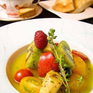 フルーツのハーブスープ(ジャッジョーロ銀座)