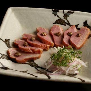 鴨肉のスモーク(手打ち蕎麦 慈玄)