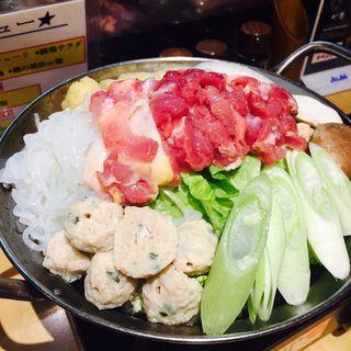 鶏鍋(闘鶏 福島店 (しゃも))
