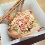 生湯葉とおぼろ豆腐のさらだ 玉葱ドレッシング