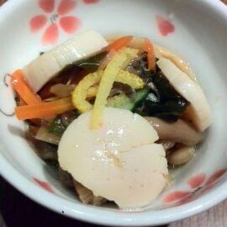 きのことホタテのマリネ(花旬庵 大井町店 (カシュンテイ))