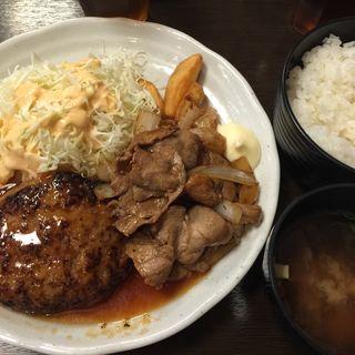 ハンバーグ&生姜焼き(愉快酒場 船場センタービル3号館店 )