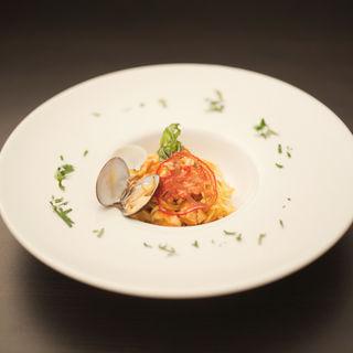 あさりのトマトパスタ(Cucina Italiana Inizio)