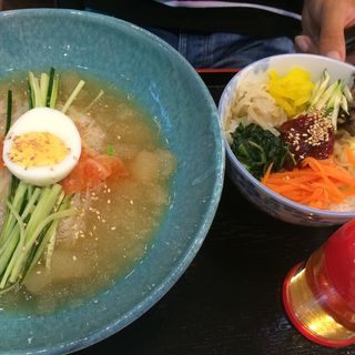冷麺セット(ビビンバ)(ダンジ )