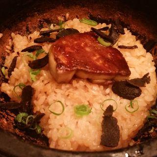 フォアグラとトリュフの石焼ビビンバ(六本木焼肉 Kintan (ロッポンギヤキニクキンタン))