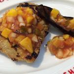 鶏モモ肉と夏野菜のグリルマンゴーサルサソース(リブラボ キッチン SHINAGAWA (Riblab Kitchen))