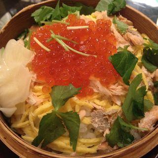 イクラと鶏の蒸篭蒸しコース(atari CAFE&DINING 池袋 (アタリ カフェアンドダイニング))