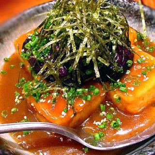 豆腐と茄子の揚げ出しカレーあん(和醸良酒)