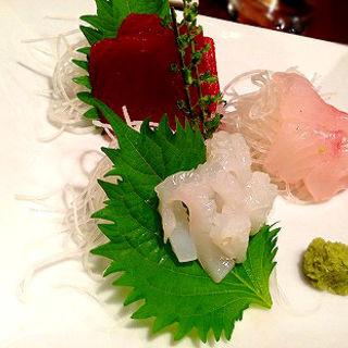 直送鮮魚の3点盛(産直市場 丸 )
