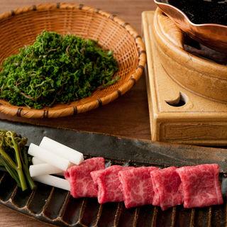和牛のすき焼き(花楽 )