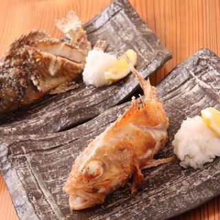 2種のカサゴの塩焼き(海鮮ウタリ)