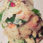 塩鮭とほうれん草のポテサラ