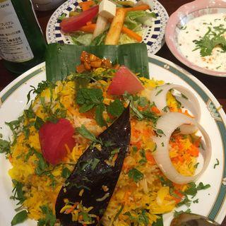 ラムビリヤニ(ハリマ ケバブ ビリヤニ (Halima kebab biryani))