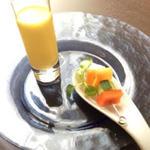 有機人参とレモングラスの冷製ポタージュ