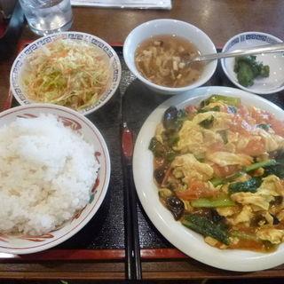 トマトとタマゴ炒め定食(長福 )