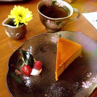 かぼちゃプリンケーキ(益子の茶屋 )