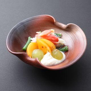 タラバガニとフルーツ和え(日本橋 花楓 )