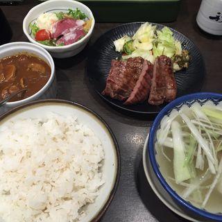 ハーフセット(牛たん炭焼き 利久 東口本店 (ぎゅうたんすみやき りきゅう))