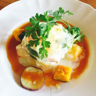フレッシュアボカドと海老とベーコンのグラタン(神戸屋レストラン 緑ヶ丘店 (コウベヤレストラン))