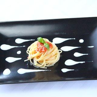 冷製トマトのカッペリーニ(リストランテ マツオ セッテルーリオ (Ristorante MATSUO Sette Luglio))