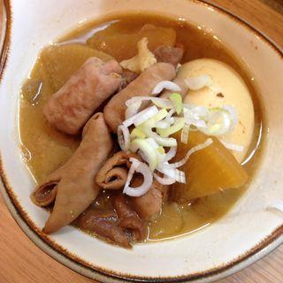 モツ煮(卵付き)(晩杯屋 大塚北口店 )