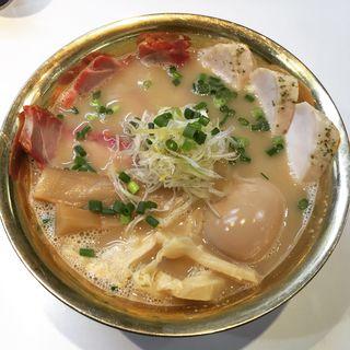 鶏とろだく麺 極(鶏湯ラーメン ばふ)
