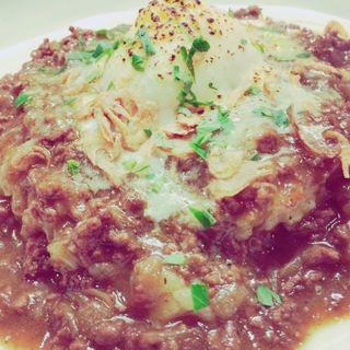 挽肉のカレーソースの焼きリゾット 温玉のせ(HiDE (ヒデ))