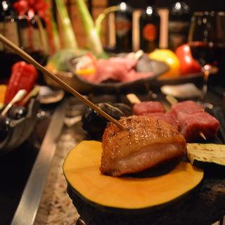 沖縄県産 アグー豚バラの塩焼き(肉ダイニング まーさん )