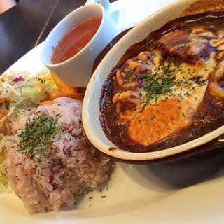 デミ玉バーグプレート(ザ キッチン カフェ フラッティ (THE KITCHEN Cafe Flattie))