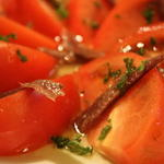 アンチョビとトマトのサラダ