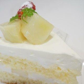 ラ・フランスのショートケーキ(パティスリー エルブランシュ )