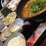 ねぎカレーうどん定食(あぶり 元之蔵 ダイワロイネットホテル京都四条烏丸店 )