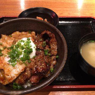 合盛カルビ丼(北海道マルハ酒場 御徒町店 (【旧店名】マルハのカルビ丼))