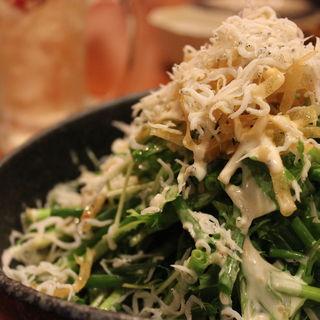 釜揚げしらすと青ネギ水菜サラダ(月膳 )