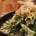 釜揚げしらすと青ネギ水菜サラダ