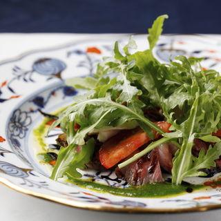 台牛フィレ肉のロースト 旬野菜の付け合せ(Mezzanine)