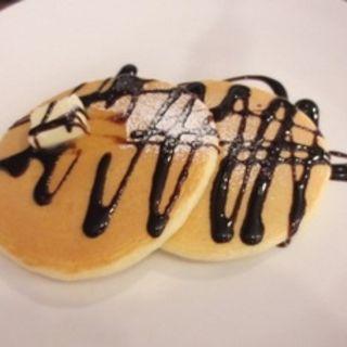 チョコレートソースパンケーキ(クリームキッチン 天神橋3丁目店 (CREAM KITCHEN))