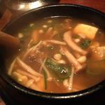 きのこと豆腐のチゲ