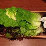 サイドメニューの野菜