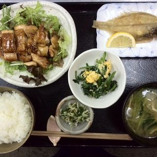 鶏の照り焼きランチ(お食事翁 )