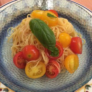 トマトの冷製パスタ(マーノ・マッジョ 大崎店 (MANO MAGIO))