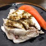 蒸し鶏の山椒醤油