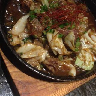 鶏ホルモン鉄板焼き(今福酒場 ペイジ (【旧店名】やいて屋))