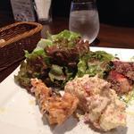 ランチの前菜 鮮魚のポアレ