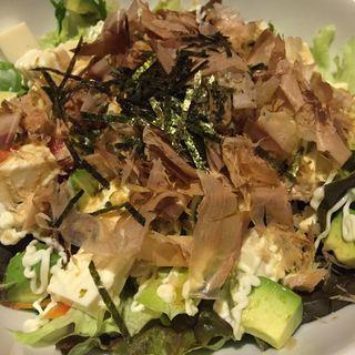 豆豆腐とアボカドのわさび醤油サラダ(京桜 (【旧店名】わっしょい桜))