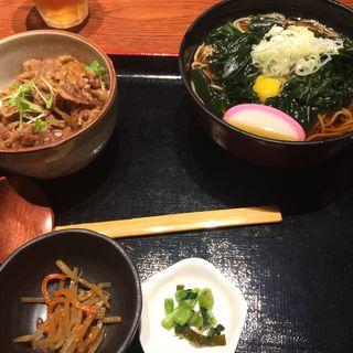 わかめ蕎麦+ミニ牛丼セット(角打 )
