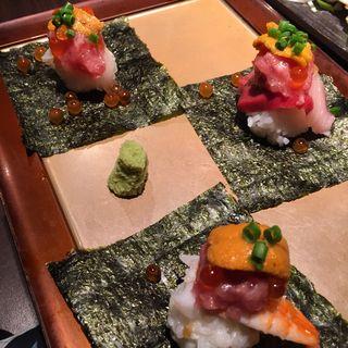 3種のお寿司(魚炉 東口原価市場 (トトロ))