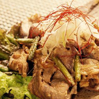 鶏肉とっても無臭ニンニクの醤油焼き(江戸三座)