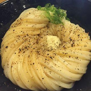 温しょう油うどん+バター・ペッパー(慎)